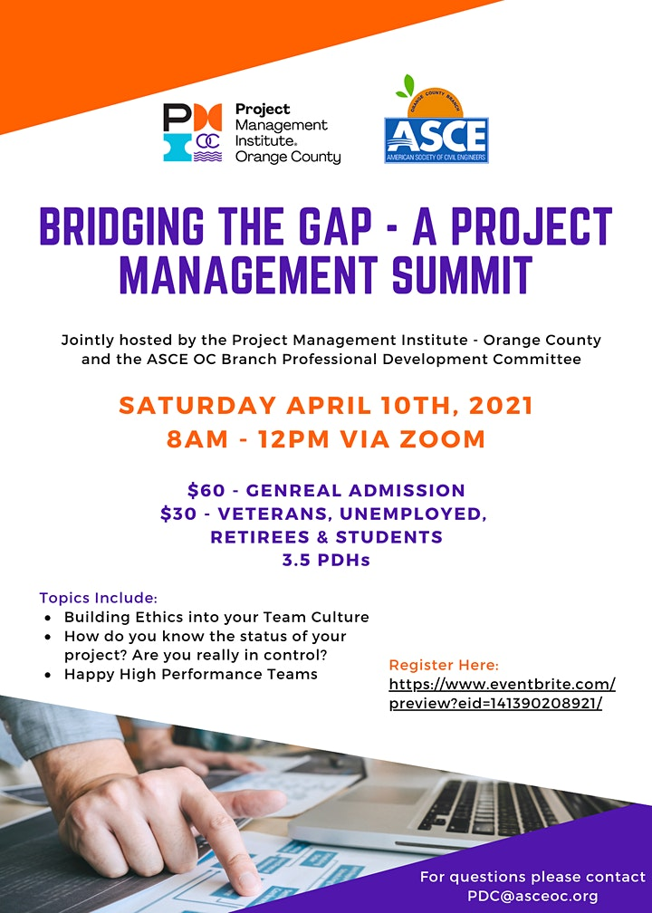 Bridging the Gap - A Project Management Summit image