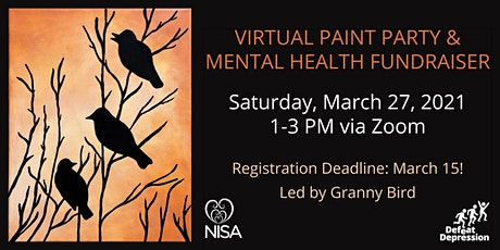 Virtual Paint Party & Mental Health Fundraiser tickets