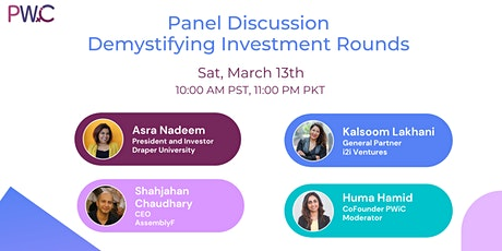 PWiC : Demystifying Investment Rounds tickets