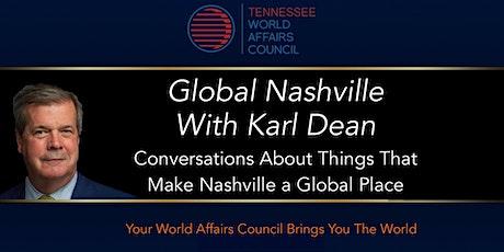 Global Nashville with Karl Dean | Conversation with Senator Bob Corker tickets