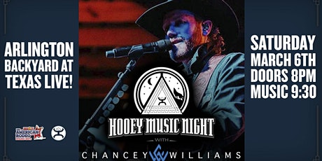 Hooey Music Night: Chancey Williams tickets