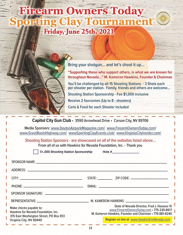 Hawkins for Nevada Sporting Clay Tournament image