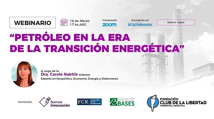 Imagen de CLUB DE LIBERTAD - PETROLEO EN LA ERA DE LA TRANSICIÓN ENERGÉTICA