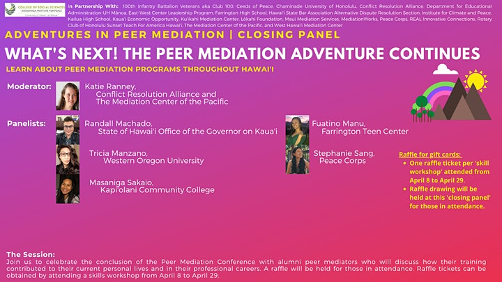 Adventures in Peer Mediation | What's Next! | Closing Panel image