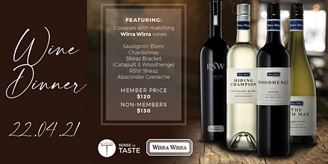 Wirra Wirra Wine Dinner tickets