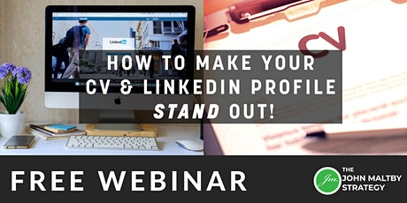 Practical Techniques to Make your CV & LinkedIn Profile Stand Out! tickets