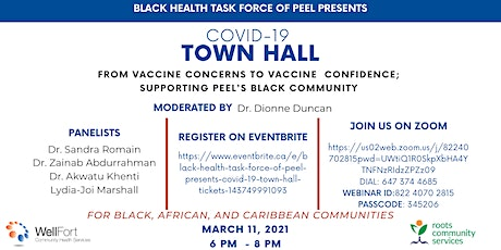 Black Health Task Force of Peel Presents: COVID-19 Town Hall tickets
