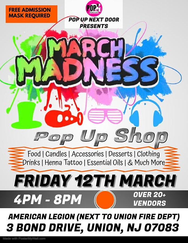 MARCH MADNESS POP UP EVENT image