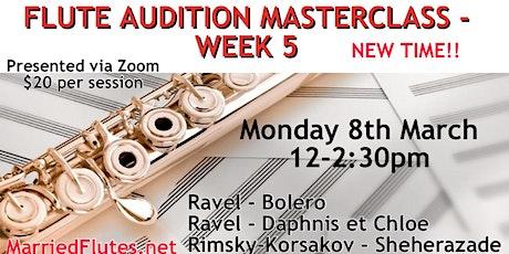 Flute Audition Masterclass #5 tickets