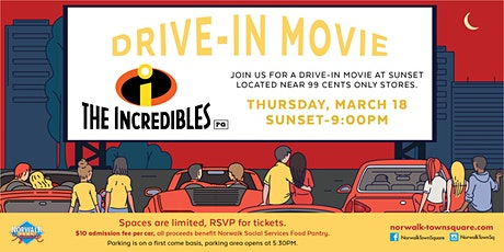 Norwalk Town Square Drive-In Movie - The Incredibles tickets