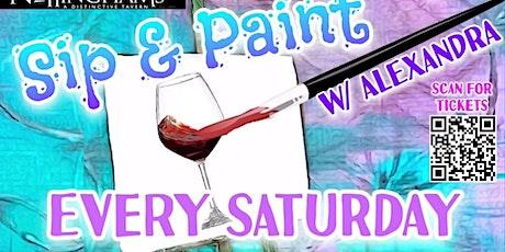 Saturday Night Sip N Paint tickets