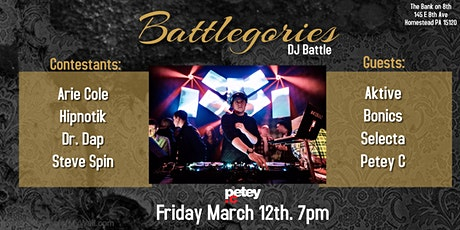 """DJ Petey C Presents """"Battlegories"""" - The Battle at The Bank (DJ Battle) tickets"""