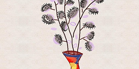 Online Art Class Creating Abstract Flower Vase with Lines and Patterns tickets