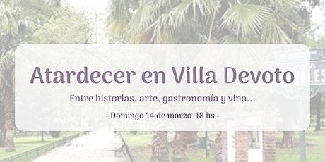 Atardecer en Villa Devoto entradas