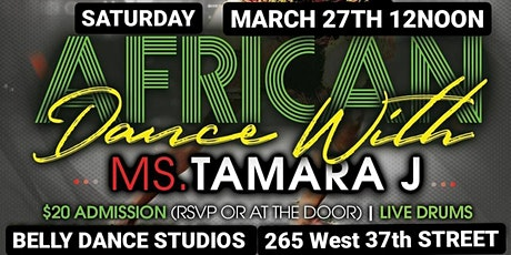 BEGINNER LEVEL AFRICAN DANCE CLASS WITH LIVE DRUMS: IN-PERSON/ONLINE tickets