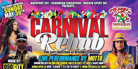 Carnival Rehab tickets