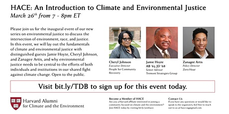 An Introduction to Climate and Environmental Justice tickets