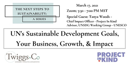 UN's Sustainable Development Goals, Your Business, Growth, & Impact tickets