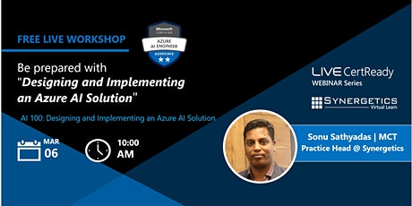 """Be prepared with """"Designing and Implementing an Azure AI Solution"""" boletos"""