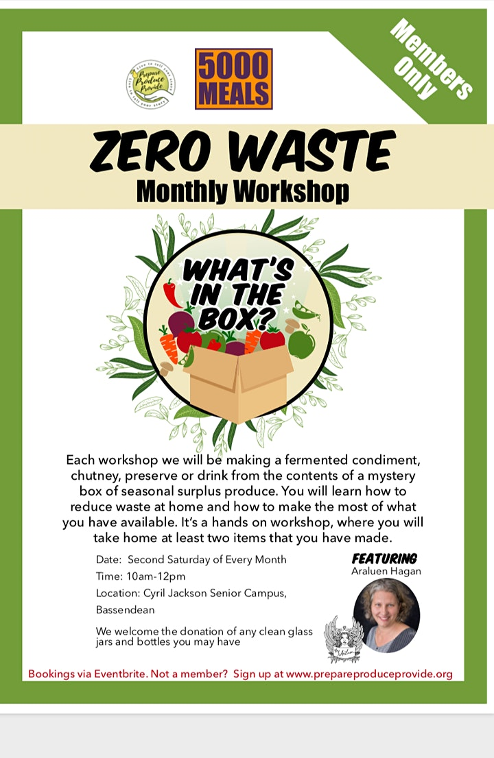 Zero Waste Monthly Workshop | How to Make Cool Refreshing Fermented Salsas image