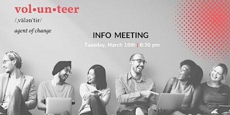 TNI Volunteer Information Meeting tickets