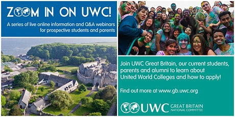 Zoom In On UWC! A Series of Live Online Information and Q&A Webinars tickets