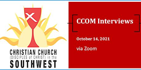 CCOM Interviews via Zoom on October 14th tickets