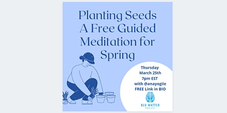 Planting Seed Guided Meditation | Presented by Blu Matter Project tickets