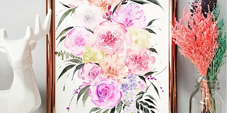 Watercolor Florals and Brush Lettering Course starts April 17 tickets