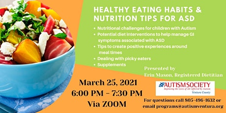 Healthy Eating Habits and  Nutrition Tips for ASD tickets