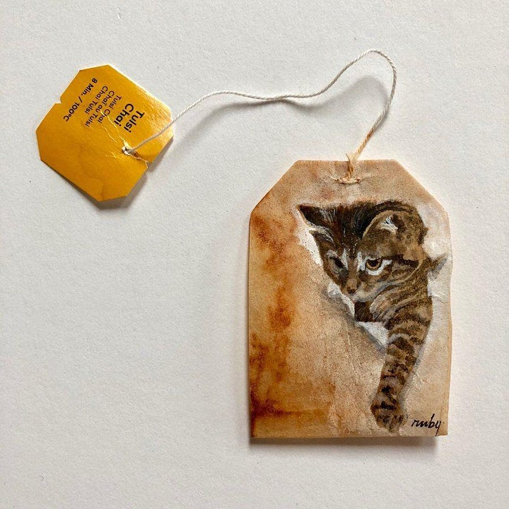 Upcycling Tea Bag Painting Workshop 茶包繪畫工作坊 image