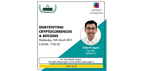 Demystifying Cryptocurrencies & Bitcoin tickets