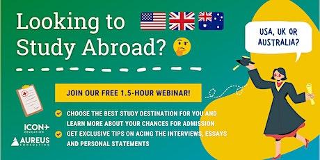 Study Abroad in USA/UK/Australia  (27th Mar 2021) tickets
