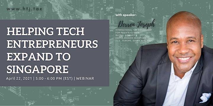 (WEBINAR)Helping Tech Entrepreneurs Expand To Singapore image