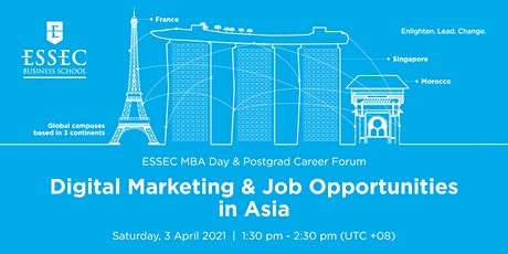Digital marketing & job opportunities in Asia tickets