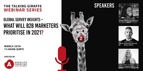 Global survey insights - What will B2B marketers prioritise in 2021? tickets