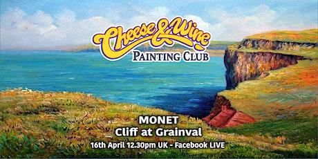 Paint MONET - 'Cliff at Grainval' - Facebook LIVE tickets