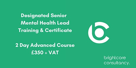 Designated Senior Mental Health Lead Training & Certificate: London tickets