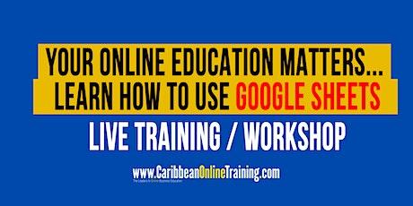 Google Sheets  Training Workshop Spread Sheets Online entradas