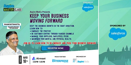 Aspire Masterclass : KEEP YOUR BUSINESS MOVING FORWARD tickets