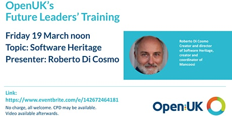 Software Heritage - Future Leaders Training tickets