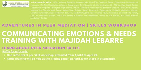 Communicating Emotions & Needs Training | Skills Workshop tickets