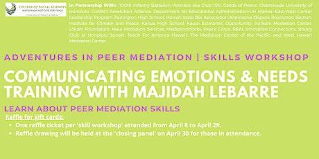 Communicating Emotions & Needs Training   Skills Workshop tickets