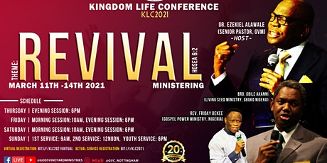 GVC 20TH ANNIVERSARY CELEBRATION - Kingdom Life Conference 2021 (Virtual) tickets