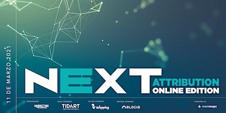 NEXT Attribution 2021 - Online Edition boletos
