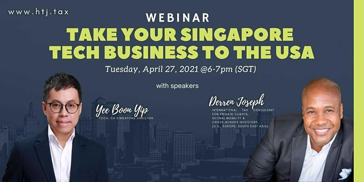 (WEBINAR) Take Your Singapore Tech Business To The  USA image