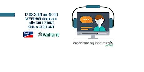 Webinar Coenergia con SMA e Vaillant 17.03.2021 biglietti