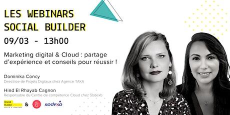 Semaine 8 mars Social Builder | Marketing digital & Cloud tips pour réussir billets