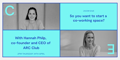 So you want to start a co-working space? tickets