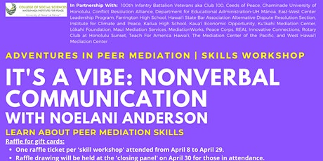 It's A Vibe: Nonverbal Communication   Skills Workshop tickets